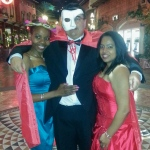 Master of Ceremonies at the University of Pretoria's Gordon Institute of Business Science masked ball