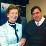 With Mary Robinson, former President of Ireland.