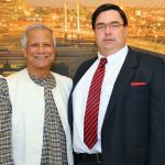 Nobel Prize winner Prof. Yunus and Howard Fox