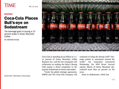 Sodastream V Coke